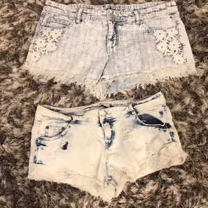 Pants - Two pairs of jeans shorts  Stretchy size 12/13
